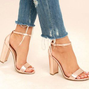 Steve Madden Carrson Sandal Heels in Rose Gold
